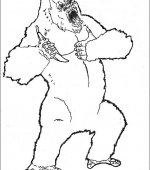 coloriage king Kong 013
